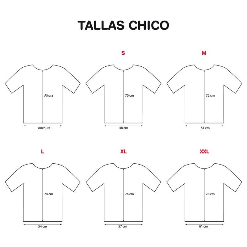 tallaje camisetas